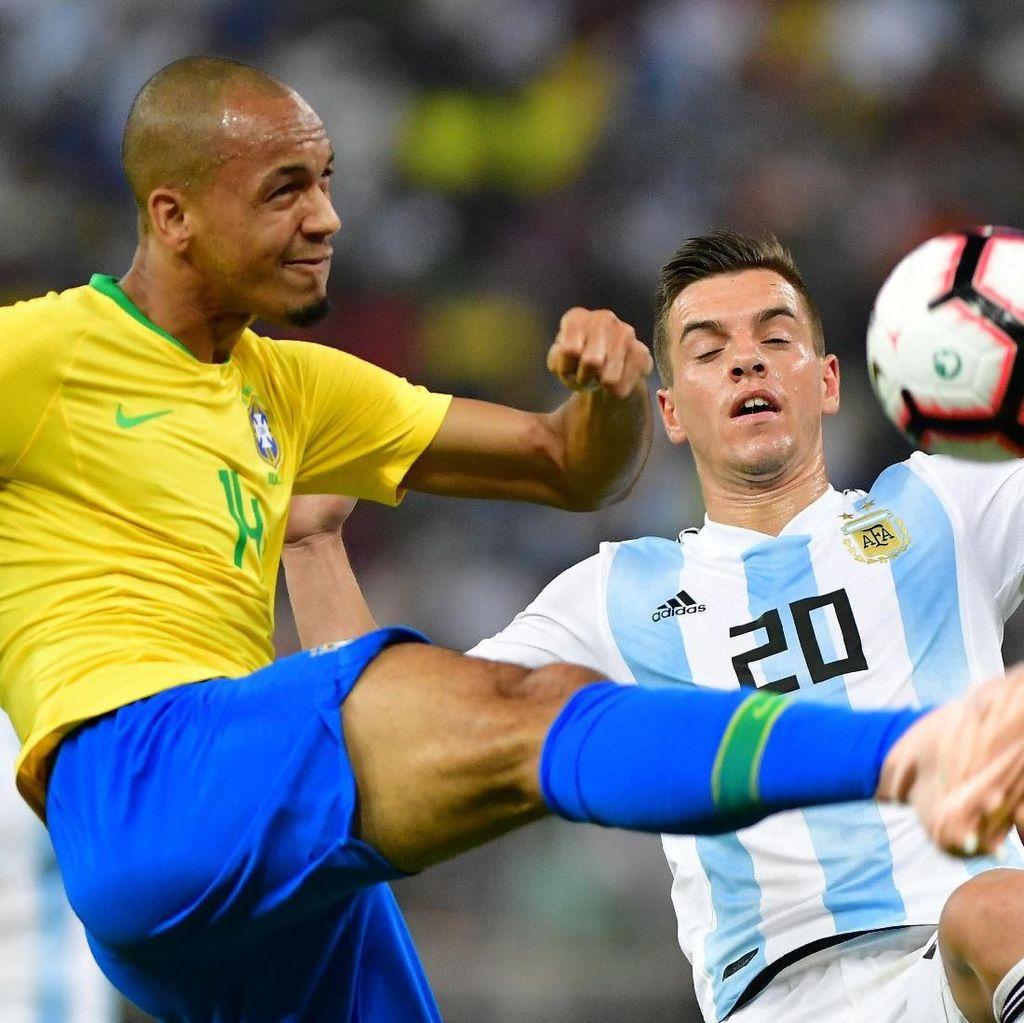 Hasil Argentina Vs Brasil: Gol Miranda di Masa Injury Time Menangkan Selecao