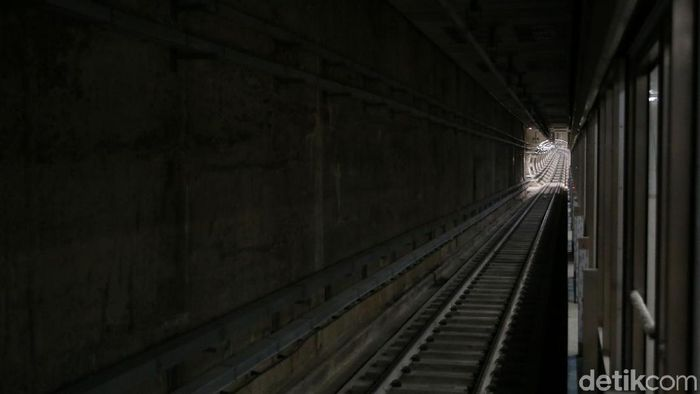 Jalur bawah tanah MRT Jakarta/Foto: Agung Pambudhy/detikcom