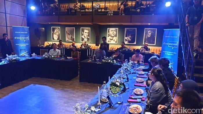 Suasana acara dExcluspeak. Foto: detikINET/Adi Fida Rahman