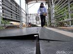 Penampakan Terkini Jembatan Gantung di Daan Mogot