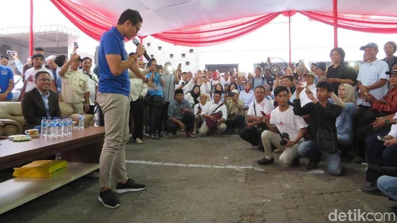 Bertemu Relawan, Sandiaga Singgung Tarif Tol di Jakarta Naik