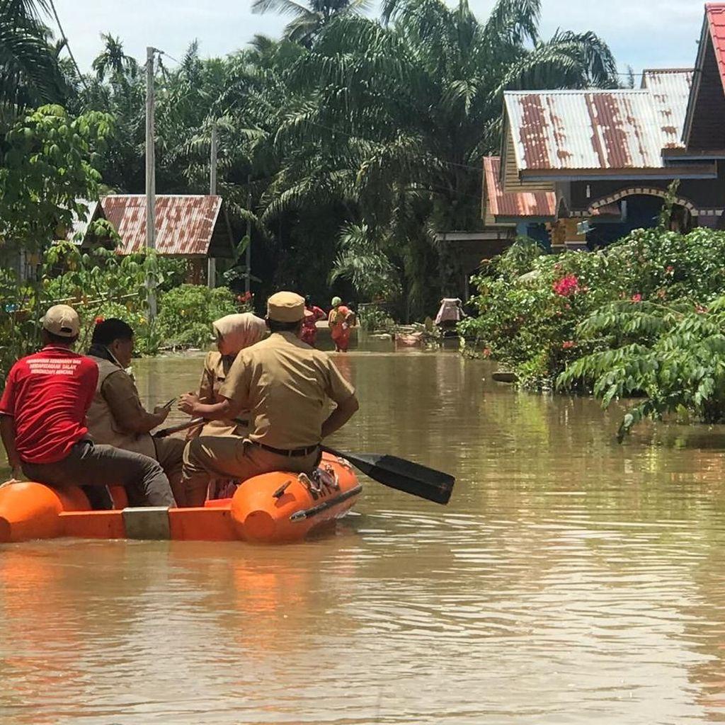 Seribuan Rumah Penduduk di Rohul Riau Diterjang Banjir