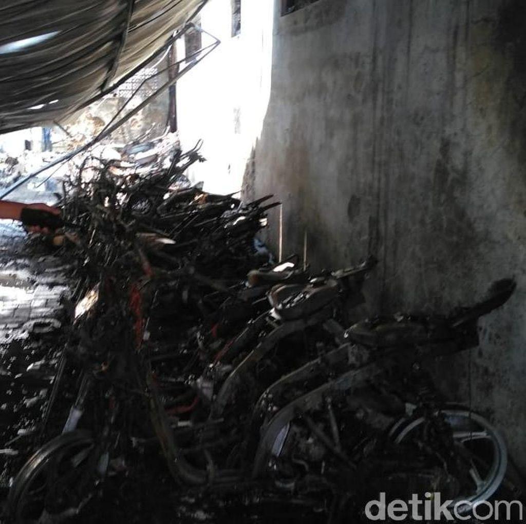 Sumber Api yang Membakar 52 Motor Pelajar SMKN 1 Diduga dari Sini