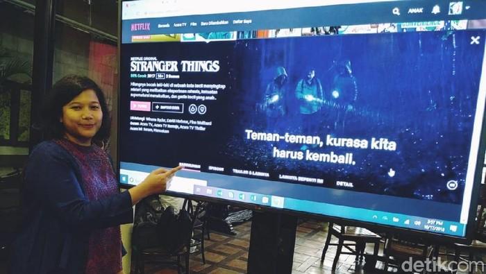 Netflix kini punya antarmuka dan subtitle bahasa Indonesia (Foto: Agus Tri Haryanto/detikINET)