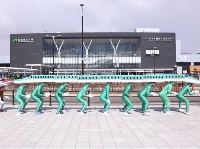 Foto: Kreatif! Cosplay Shinkansen Sambut Wisatawan di Jepang