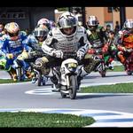 Seru! Rider MotoGP Balapan Pakai Motor Mini