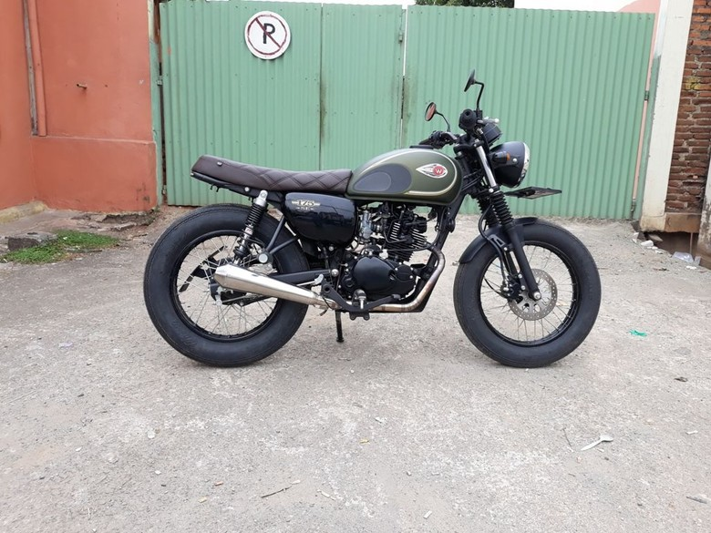 Modifikasi Ringan Kawasaki W175. Foto: Dok. Insan Motor Bekasi