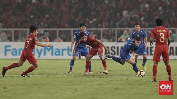 Timnas Indonesia U-19 menang 2-1 atas Taiwan di pertandingan pertama.