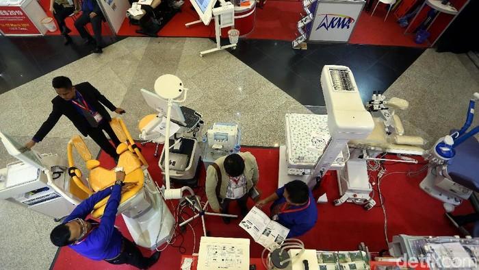 Alat kesehatan di Hospital Expo di JCC