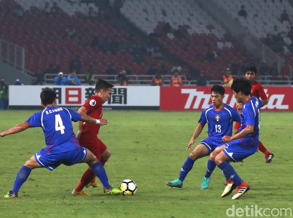 Piala Asia U-19: Witan Dua Gol, Indonesia Taklukkan Taiwan 3-1