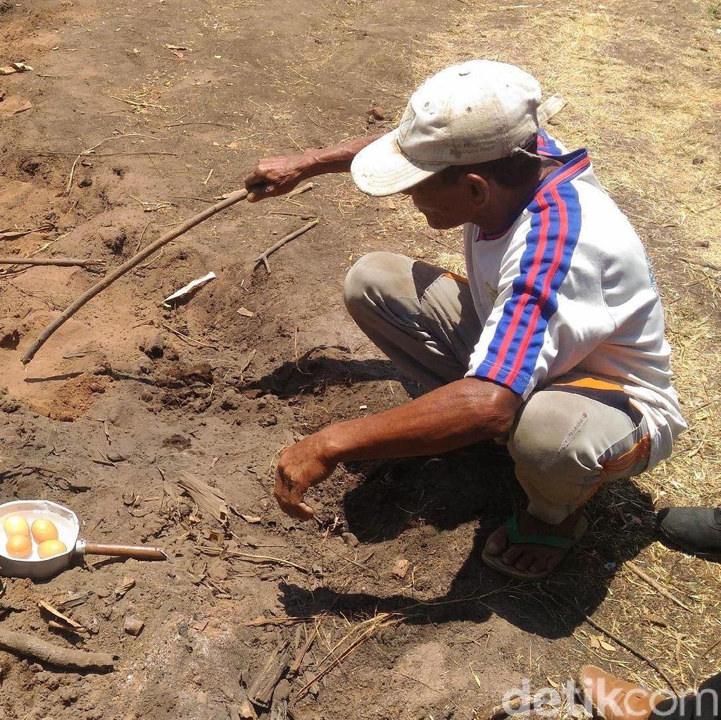 Fenomena Alam Tanah Mendidih Kejutkan Warga Sumenep