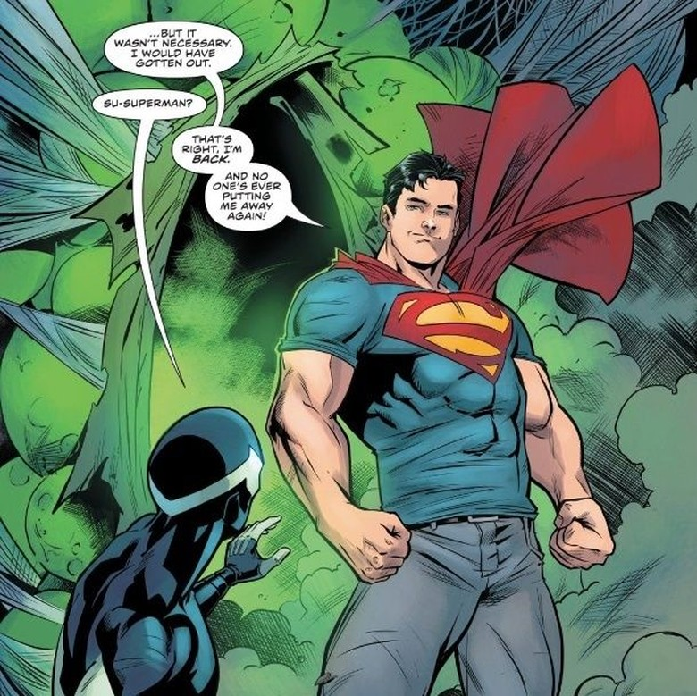 Muncul Pakai Jeans di Antara Bayangan, Superman Dihidupkan Lagi Foto: DC Comics