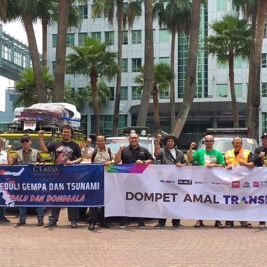 CT Arsa Bersama Transmedia dan IOF Salurkan Lagi 1 Ton Logistik ke Palu