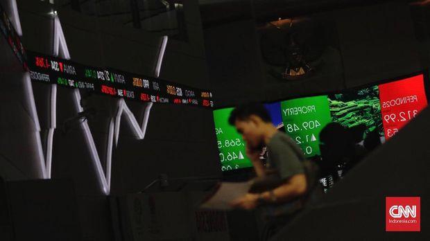 Ilustrasi perdagangan saham.