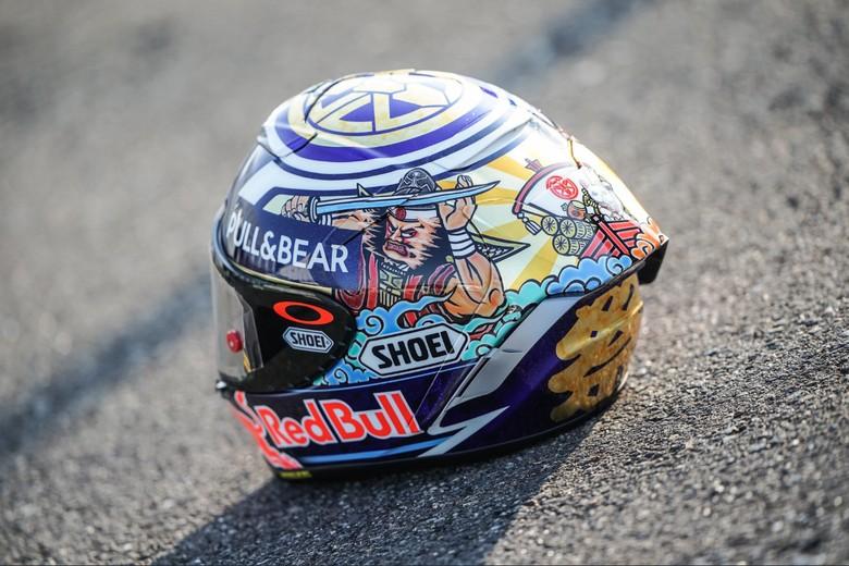 Helm Spesial Marc Marquez untuk MotoGP Jepang. Foto: @marcmarquez93