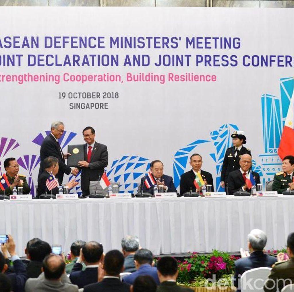 Menhan Ryamizard Sepakati Kerja Sama dengan ASEAN Lawan Teroris