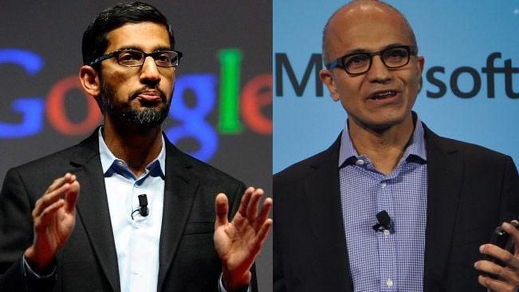 CEO Google Sundar Pichai vs CEO Microsoft Satya Nadella