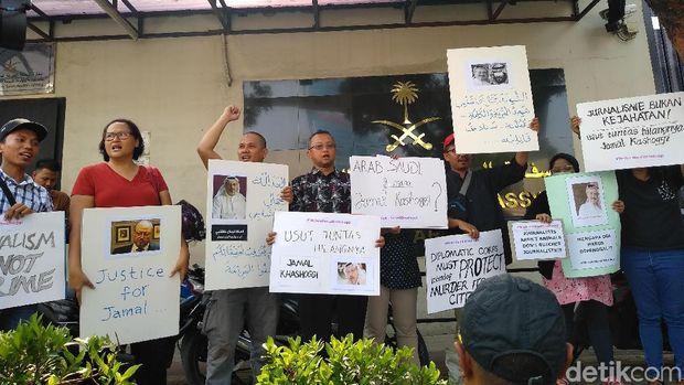 Jurnalis Demo Kedubes Saudi di Jakarta Soal Kasus Khashoggi