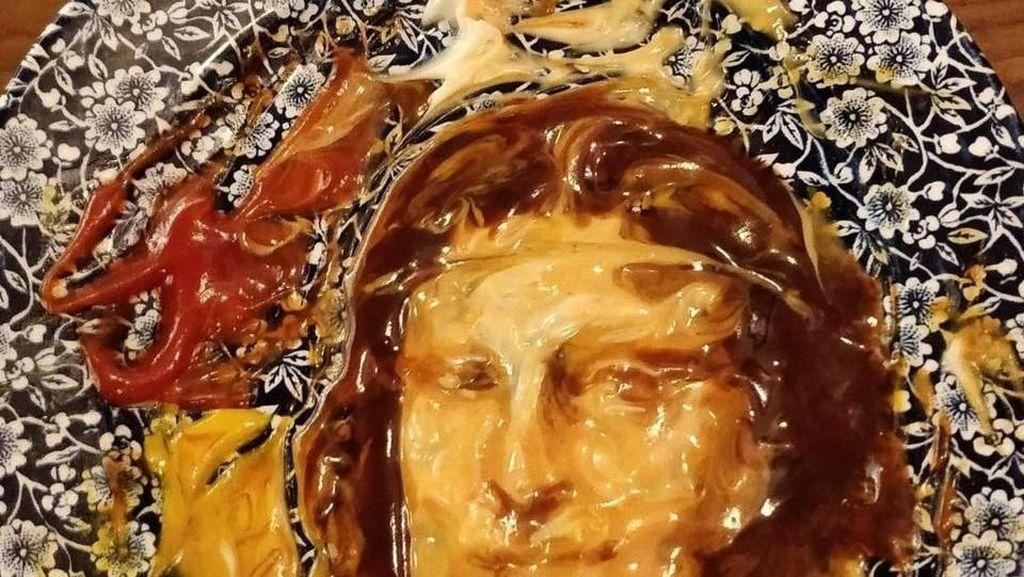 Keren! Remaja Ini Sulap Sisa Saus Jadi Mona Lisa dan Frida Kahlo