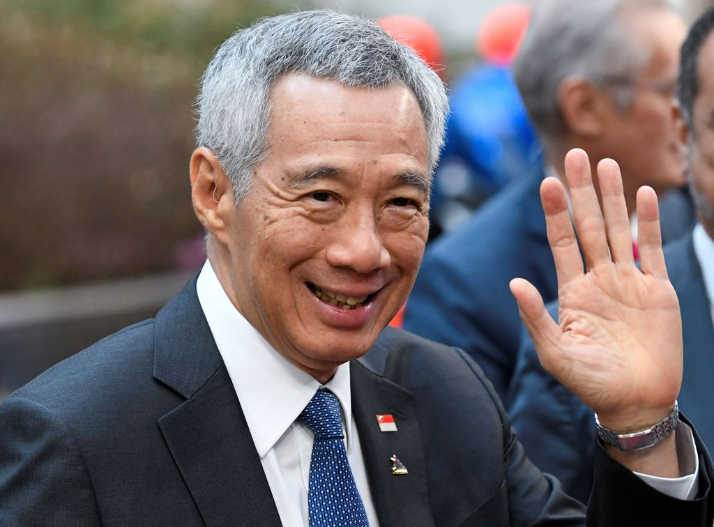 Singapore's Prime Minister Lee Hsien Loong arrives at the ASEM leaders summit in Brussels, Belgium October 19, 2018. REUTERS/Piroschka van de Wouw