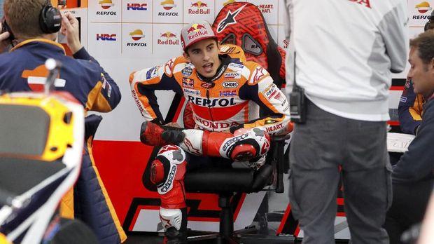 Marc Marquez akan start dari posisi keenam di MotoGP Jepang.