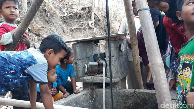Cerianya Warga Gedangsari Gunungkidul dapat Bantuan Air Bersih