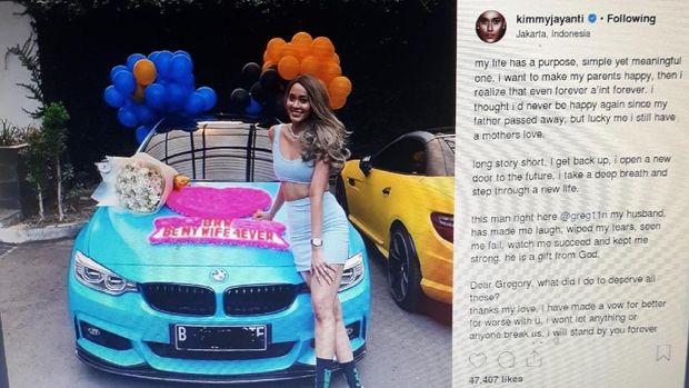 Mantul! Ultah ke-27 Kimmy Jayanti Dapat Mobil Mewah dari Greg