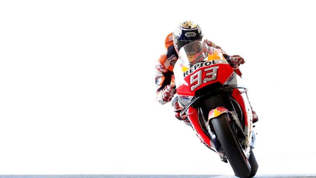 Crash Saat Latihan Bikin Marquez Kesulitan di Kualifikasi MotoGP Jepang