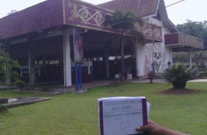 Ini adalah penampakan awal PLBN Entikong yang berlokasi di Kalimantan Barat. Pool/PUPR/File.