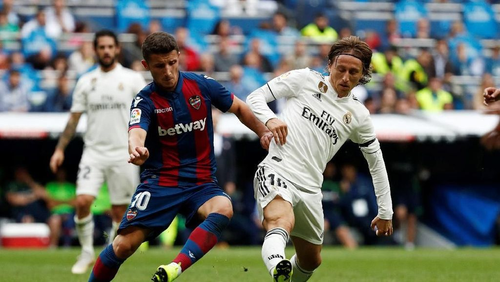 Kian Terpuruk, Madrid Dikalahkan Levante di Bernabeu