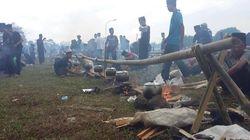 Ketika Ribuan Santri Menanak Nasi Liwet Serentak di Tasikmalaya