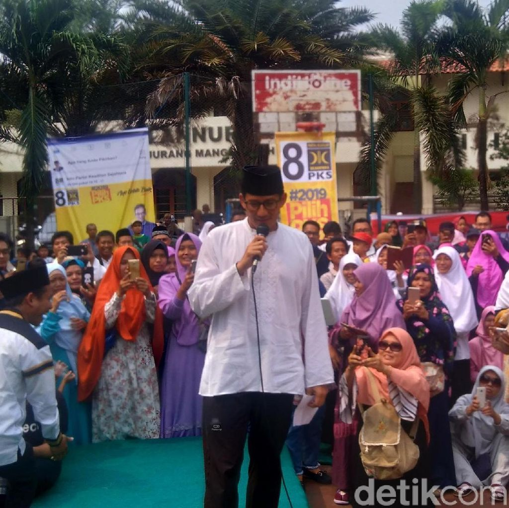 Kampanye di Pondok Aren, Sandi Bahas Disabilitas hingga Air Bersih