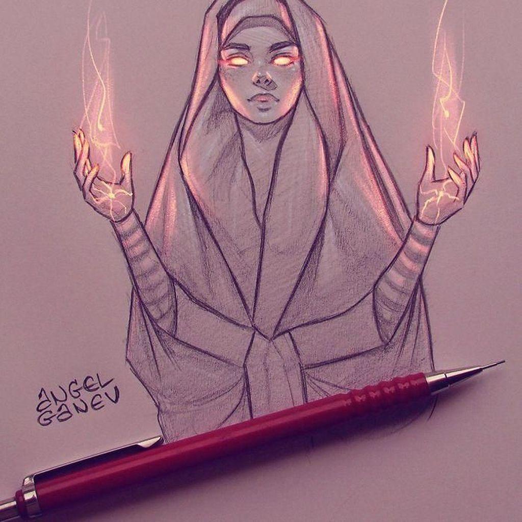 Keren! Lukisan Sketsa Pensil Tampak Bercahaya