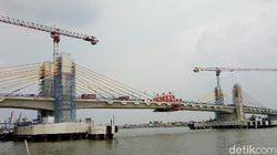 Bakal Diresmikan Jokowi, Progres Jembatan Musi IV Pelembang 97%,