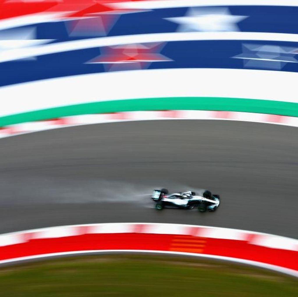 Hamilton Terdepan, Mercedes Kuasai Latihan Pertama GP Amerika Serikat