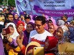 Senam Bareng Ibu-ibu di Tangsel, Sandiaga Singgung soal BPJS