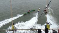 Begini Keseruan Balapan Perahu Nelayan Tradisional di Maros