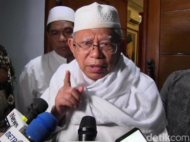 Sandiaga Langkahi Makam, Maruf Amin: Serahkan ke Kiai Jatim
