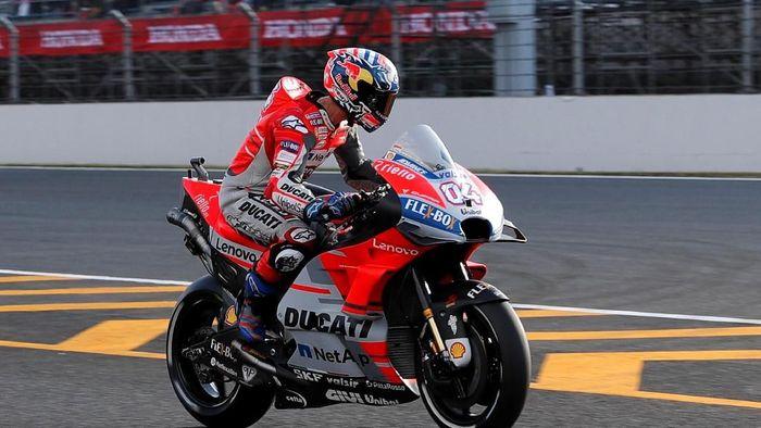 Andrea Dovizioso menguasai sesi latihan bebas pertama MotoGP Malaysia (REUTERS/Toru Hanai)
