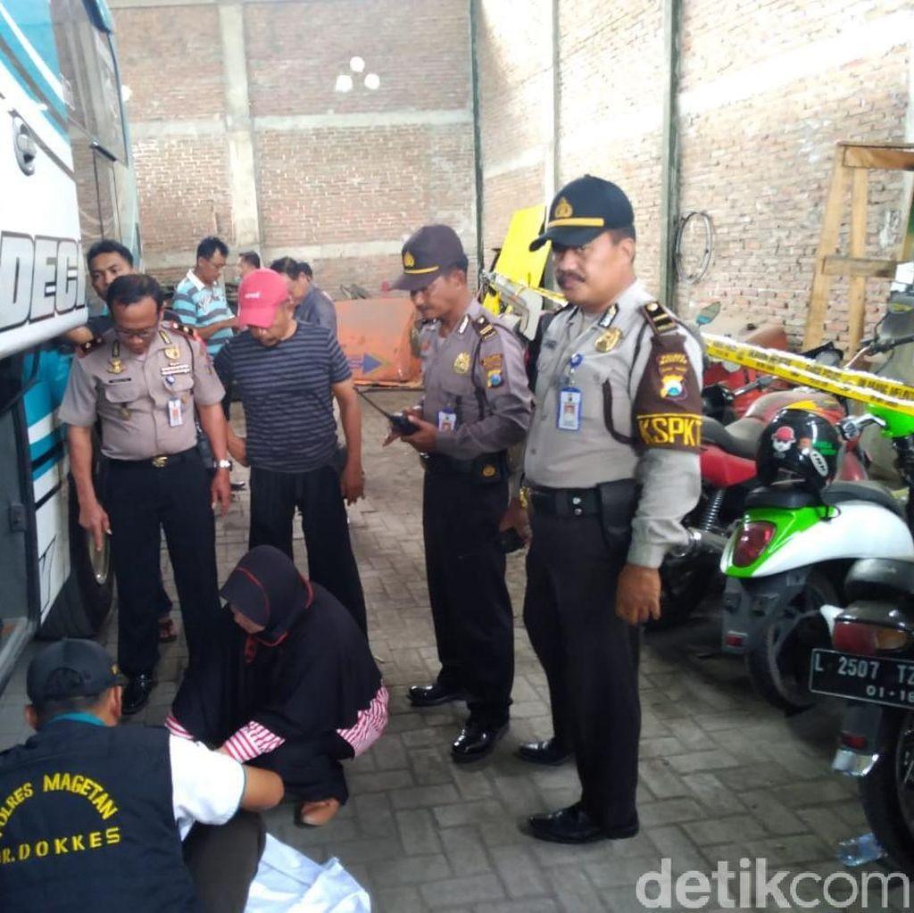 Mayat Bayi Berlumpur Ditemukan di Dalam Bagasi Bus Di Magetan