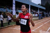 Dewangga saat bertanding dalam lomba lari di ASEAN Autism Games 2018.