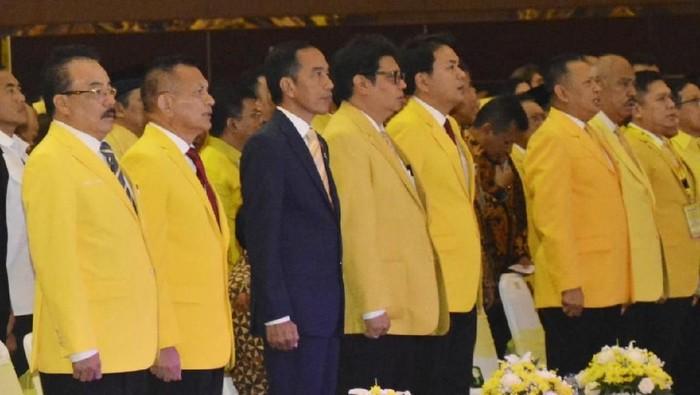 Jokowi saat hadir di HUT Golkar. (Foto: Dok Golkar)