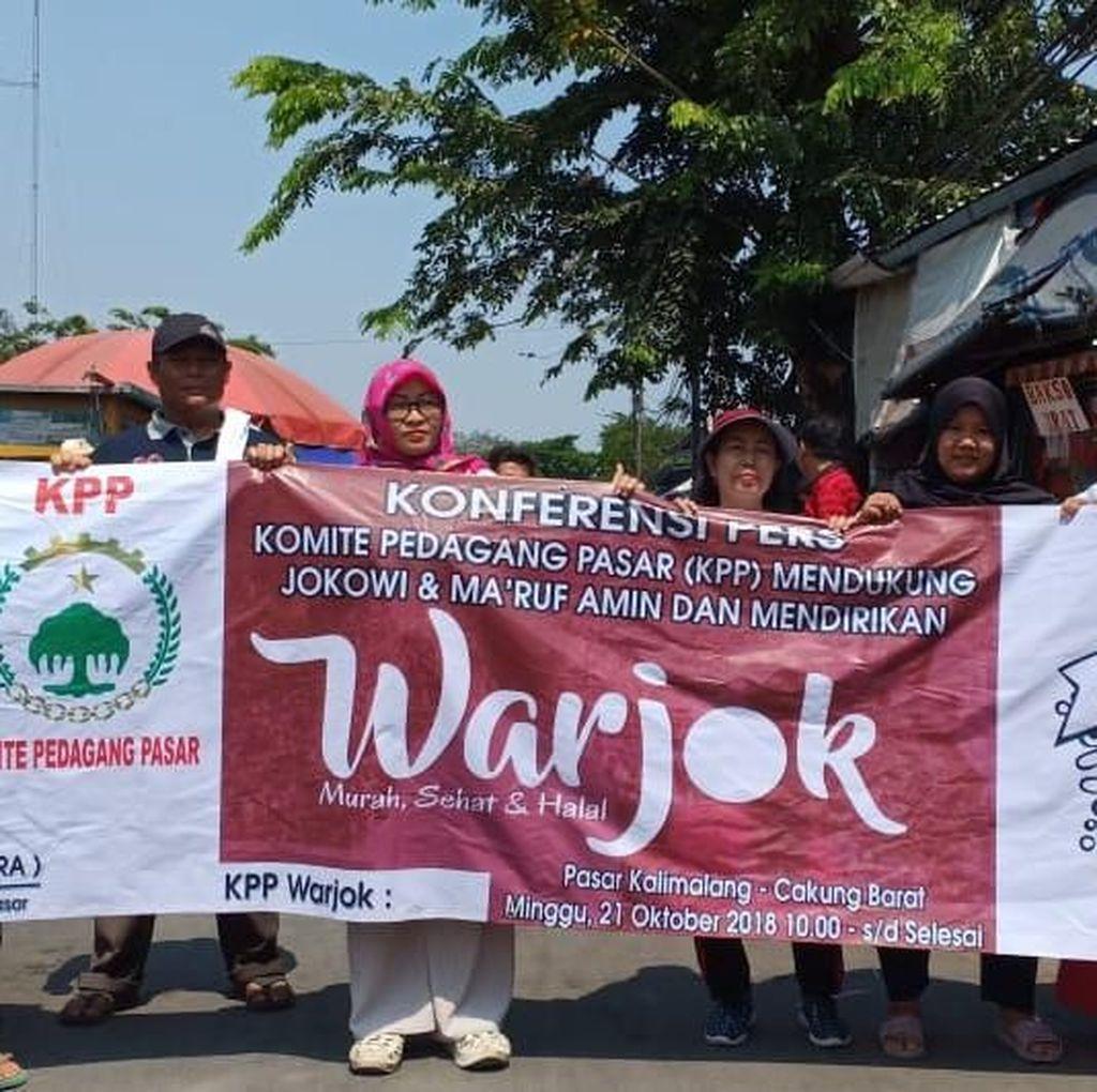 Jokowi-Maruf Amin Didukung Pedagang Pasar