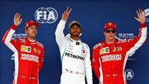 Hamilton Raih Pole GP Amerika Serikat Usai Atasi Duo Ferrari