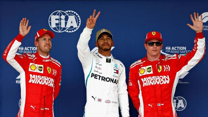 Lewis Hamilton start terdepan di GP Amerika Serikat. (Foto: Will Taylor-Medhurst/Getty Images)