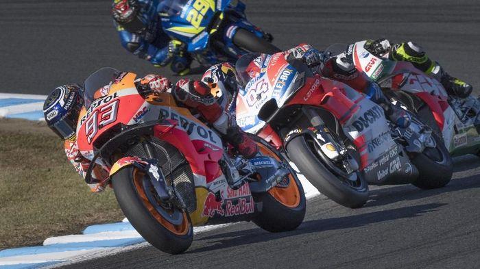 Marc Marquez jadi juara dunia MotoGP 2018 setelah belajar soal konsistensi dari Andrea Dovizioso (Mirco Lazzari gp/Getty Images)