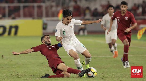 Timnas Indonesia U-19 menelan kekalahan ketika berhadapan dengan timnas Qatar U-19.