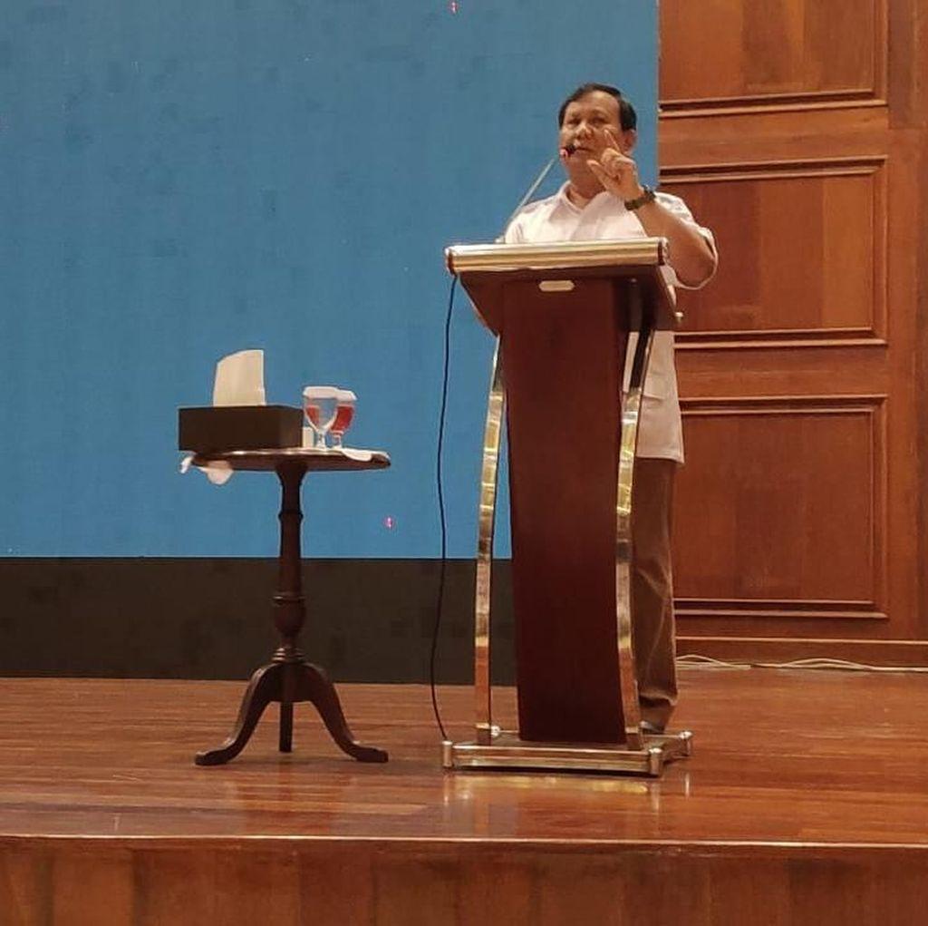 Prabowo ke Emak-emak: Jadikan Saya Alat Wujudkan RI Adil-Makmur