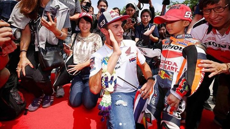 Winnie, Atlet Cilik Fans Berat Juara MotoGP 2018 Marc Marquez