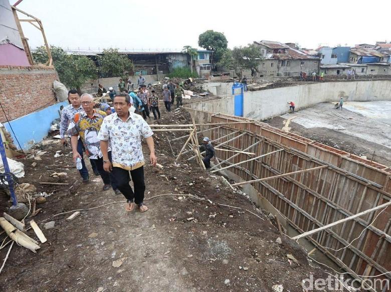Jelang Musim Hujan, Pembangunan Kolam Retensi Sirnaraga Dikebut